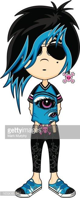 264x648 Emo Punk Girl Stock Vectors