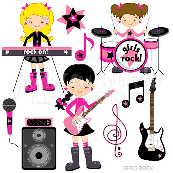 570x570 Excellent Ideas Rockstar Clipart Anime Manga Girl Rock Star Goth