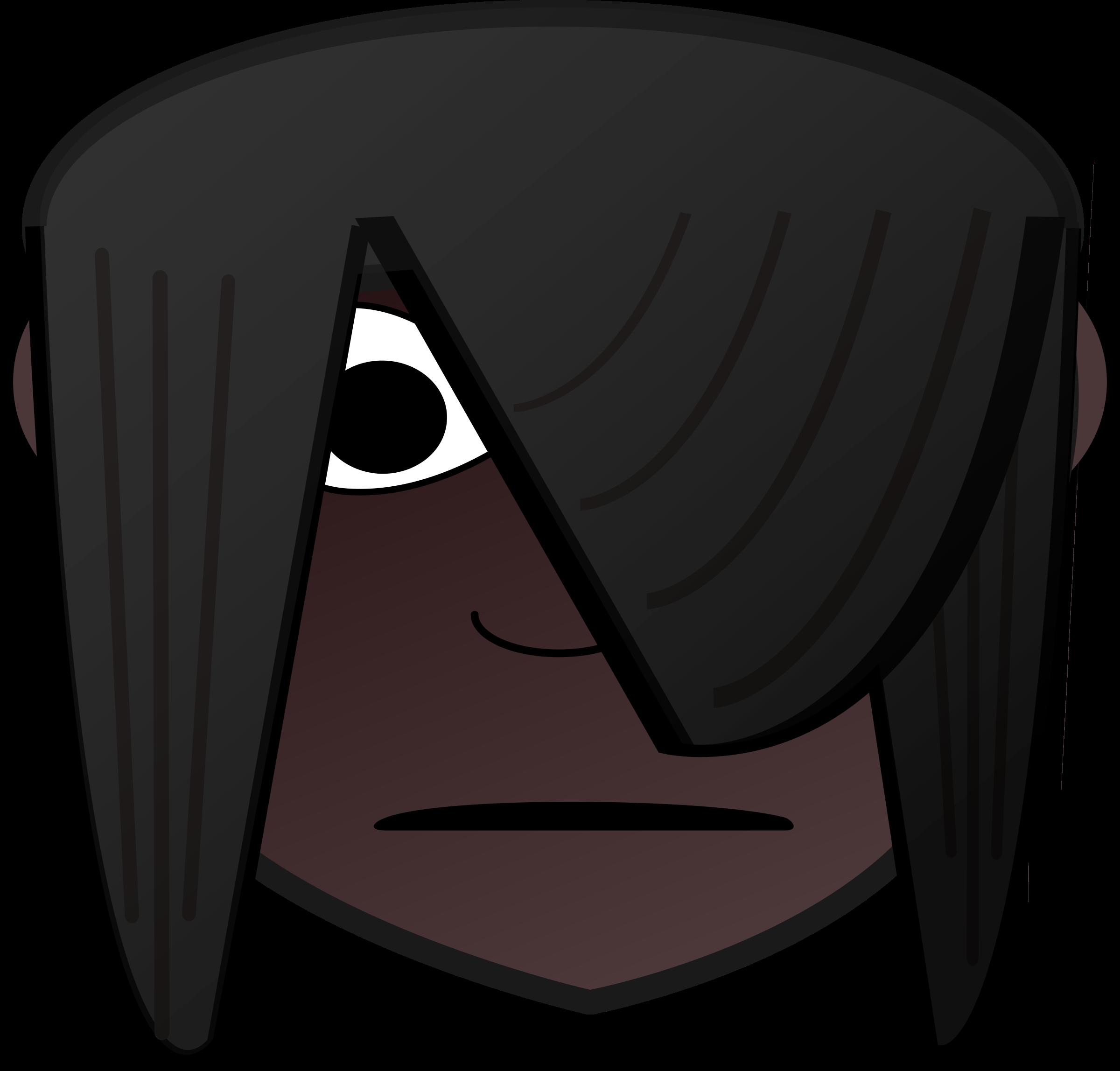 2400x2295 Emo Girl Head Dark Icons Png