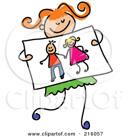 450x470 Girl Drawing Clipart
