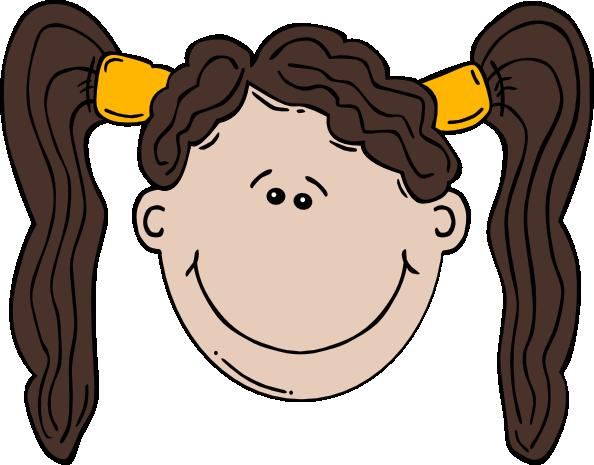 594x465 Girl Face Cartoon Clip Art Free Vector 4vector