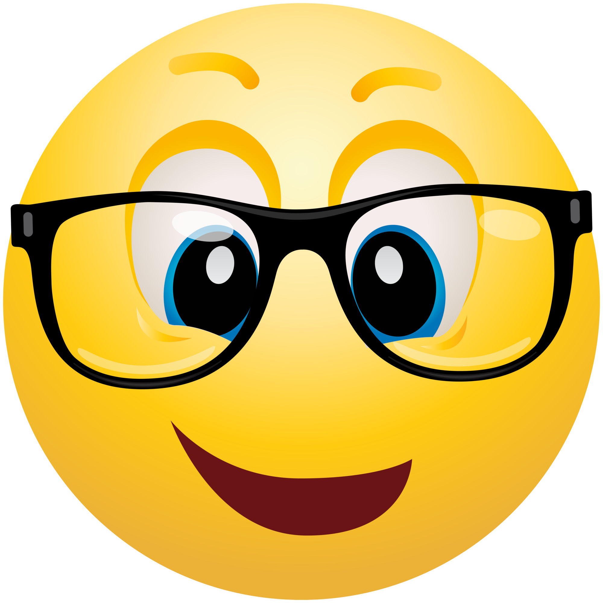 2000x2000 Geek Emoticon Emoji Clipart Info