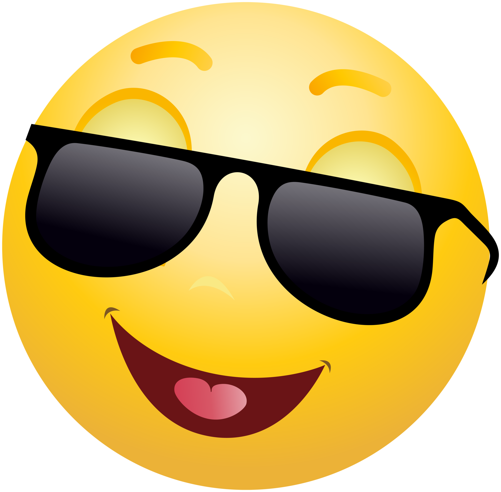 2038x2000 Smiling Emoticon Emoji With Sunglasses Clipart Info