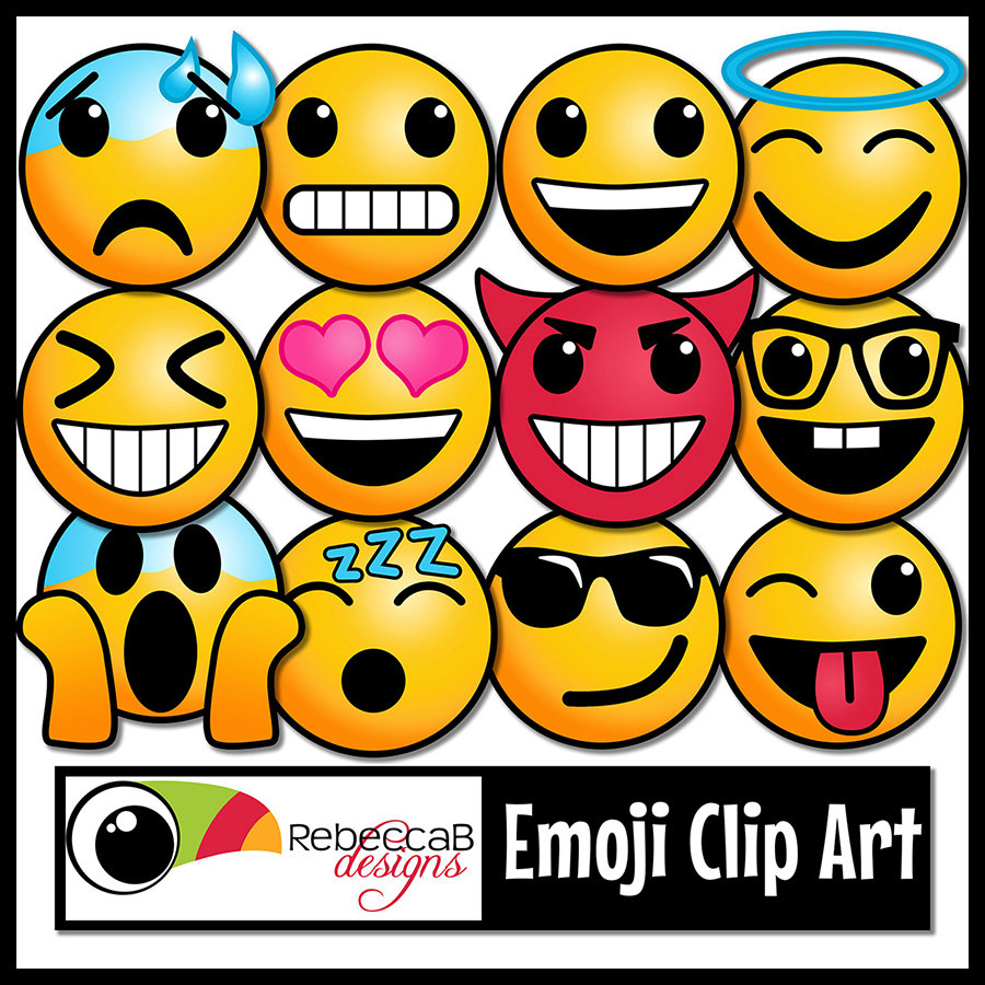 900x900 65 Emoji Clip Art Emoji Faces, Smiley Faces, Emotion Clip Art