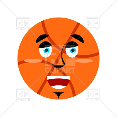 400x400 Basketball Happy Emoji Royalty Free Vector Clip Art Image