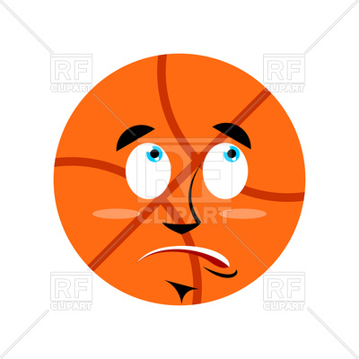 400x400 Basketball Surprised Emoji Royalty Free Vector Clip Art Image