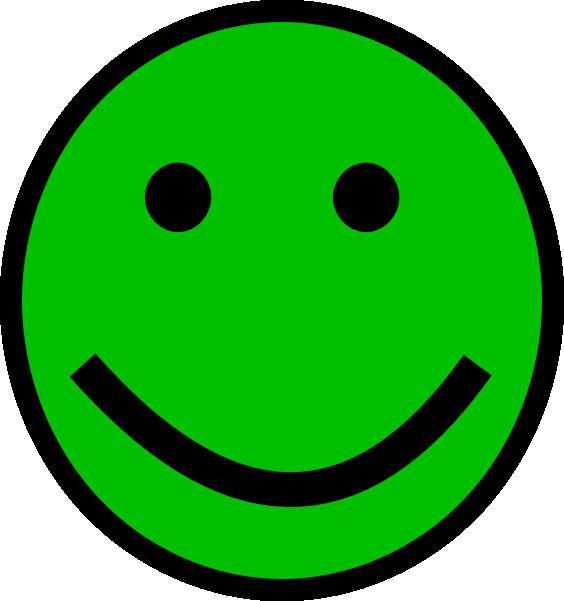 564x601 Green Smiley Face Clip Art