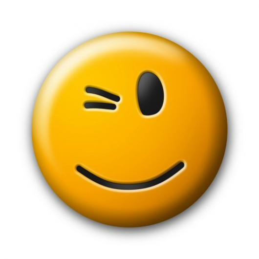 530x530 Winking Emoji Wink Face Emoticon Clipart 3