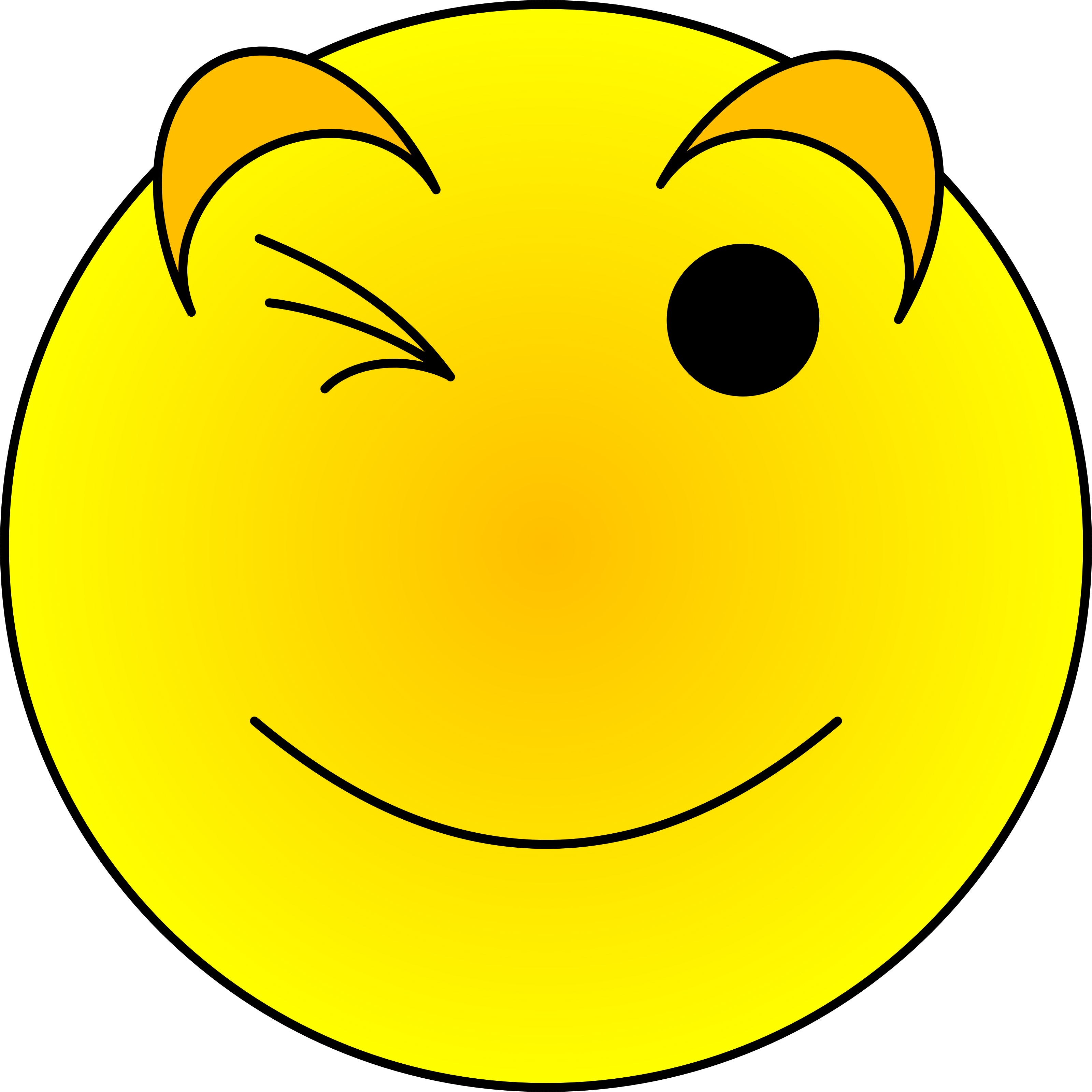 3200x3200 Winking Emoji Winking Face Free Download Clip Art On Clipart