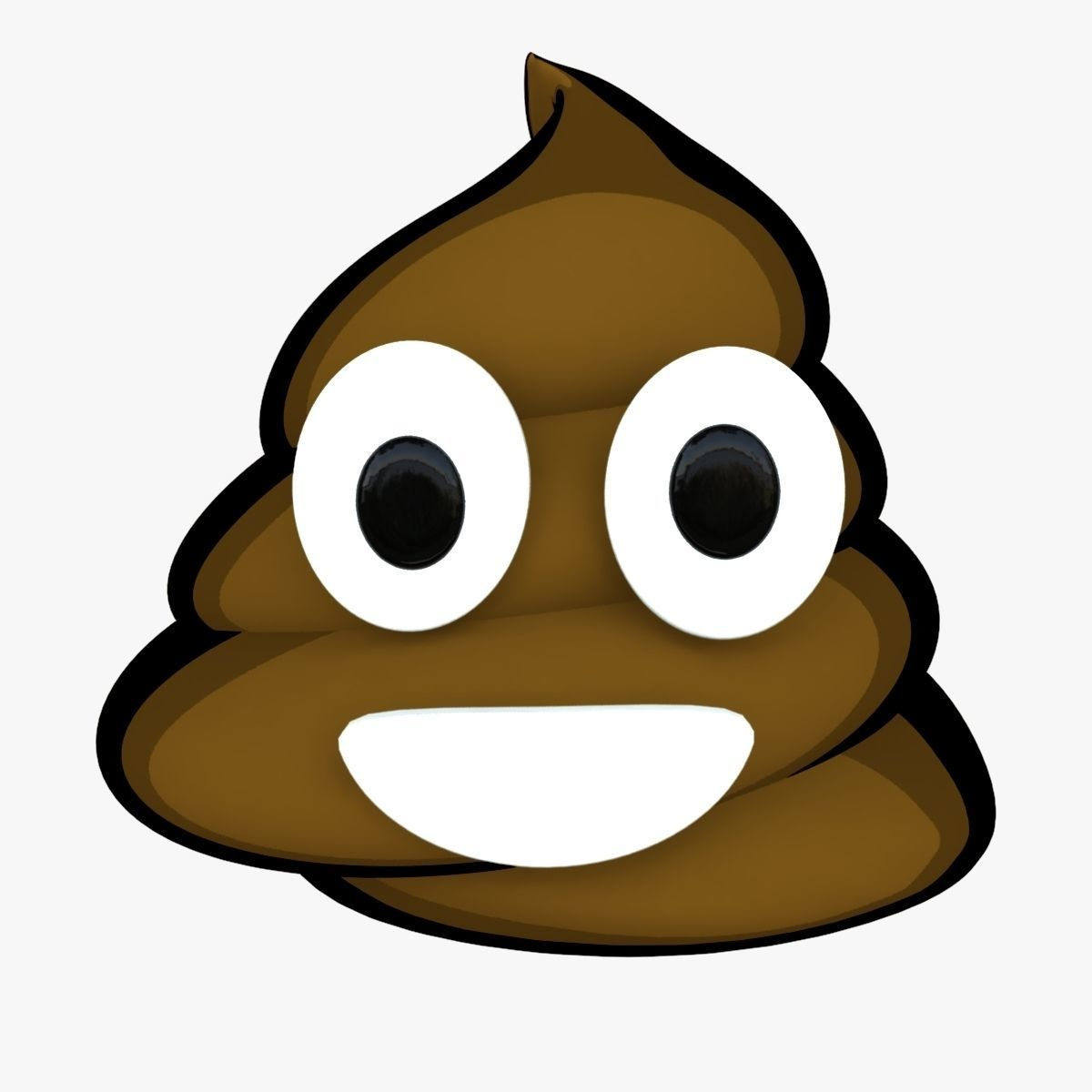 1200x1200 3d Model Smiling Pile Of Poo Emoji Cgtrader