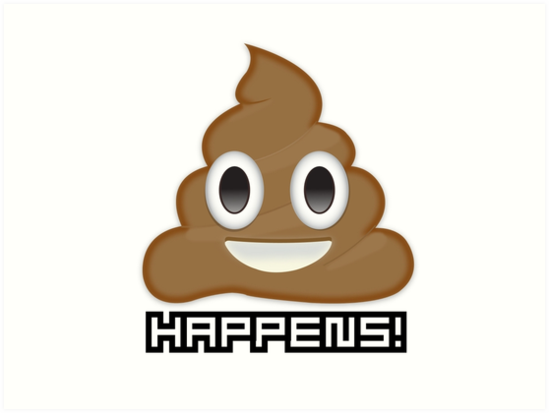 549x413 Shit Happens Emoji Poop Art Prints By Meansmoothie Redbubble