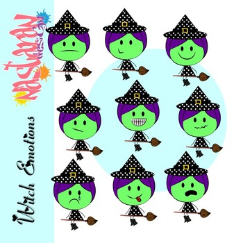 350x350 Emotions And Feelings Clip Art Witch Clipart By Nastaran Tpt