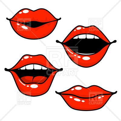 400x400 Woman Lips Emotions Royalty Free Vector Clip Art Image