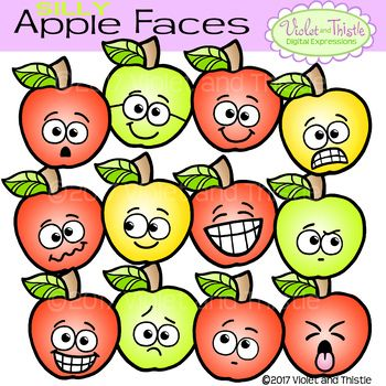 350x350 Apple Fun Faces Apples Emotions Emoticons Expression Clipart Clip