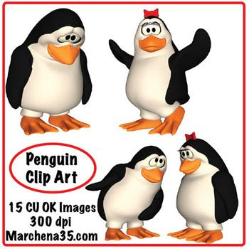 350x350 Cute Penguin Clip Art
