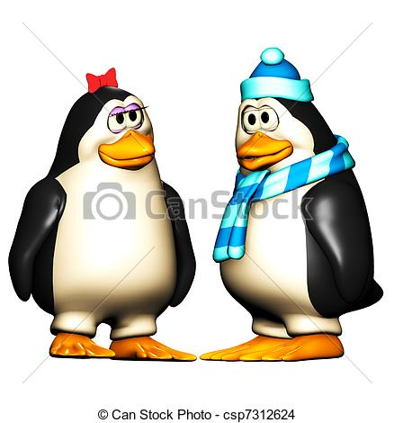 438x470 Kissing Penguin Cartoon Illustrations And Clip Art. 18 Kissing