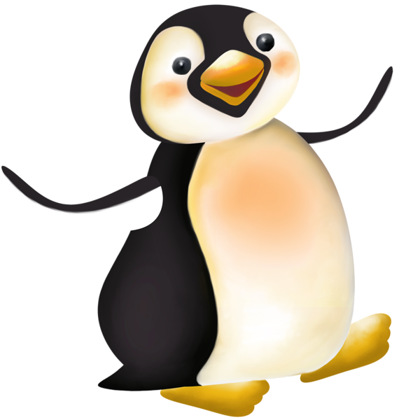 570x600 Large Penguin Cartoon Png Clipart Penguins!!!!