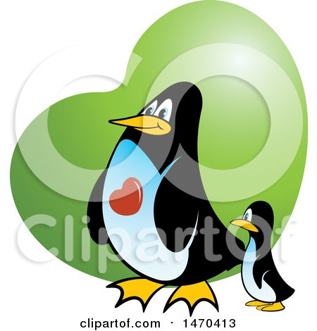 450x470 Clipart Of A Group Of Penguins