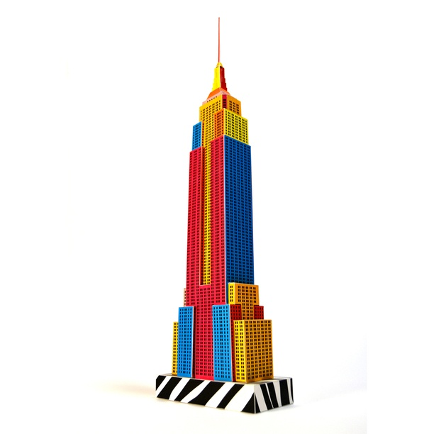 612x612 Empire State Building Pop Art