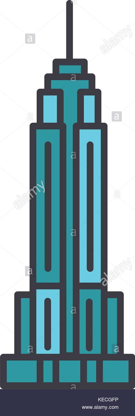 452x1390 Empire State Building Stock Vector Images