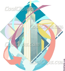 274x300 Empire State Building Vector Clip Art