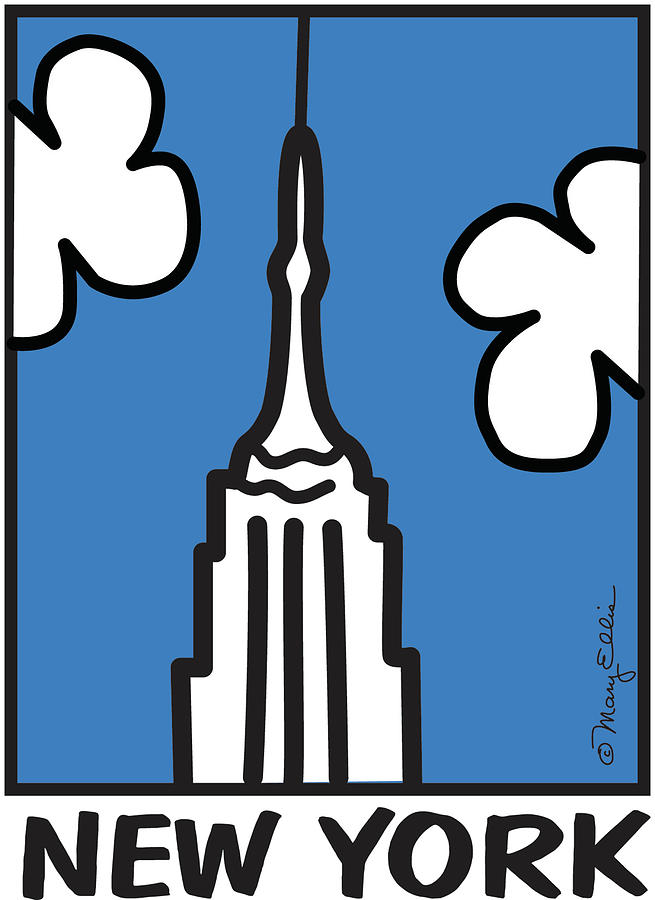 655x900 New York Empire State Building Digital Art By Mary Ellis