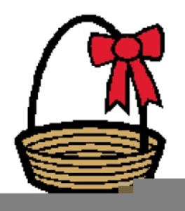 264x300 Large Easter Basket Clipart Free Images