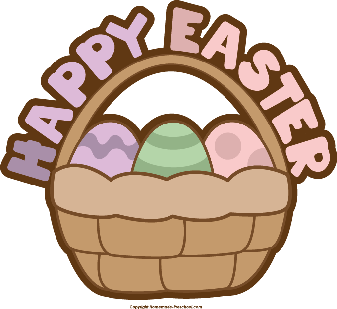 680x623 Basket Clipart Happy Easter