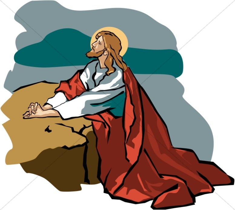 776x694 Jesus In Gethsemane With Red Robe Jesus Clipart