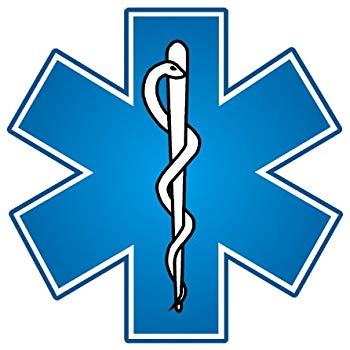 350x350 Emt Ems Paramedic Blue Star Of Life Caduceus
