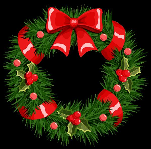 600x593 Transparent Christmas Wreath Png Clipart Narodzenie