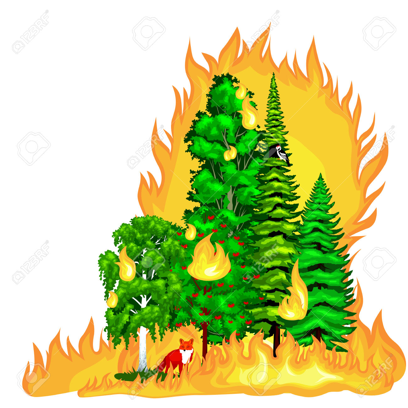 1300x1300 Collection Of Forest Fire Clipart High Quality, Free