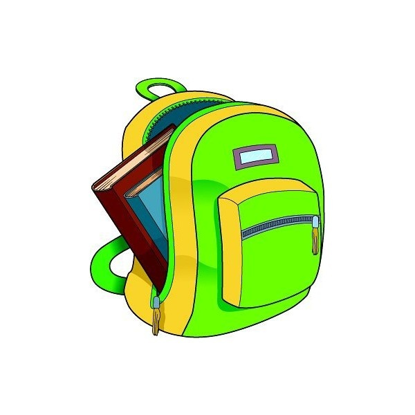 600x600 Bag Clipart End School
