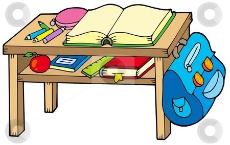 450x284 School Table Clipart