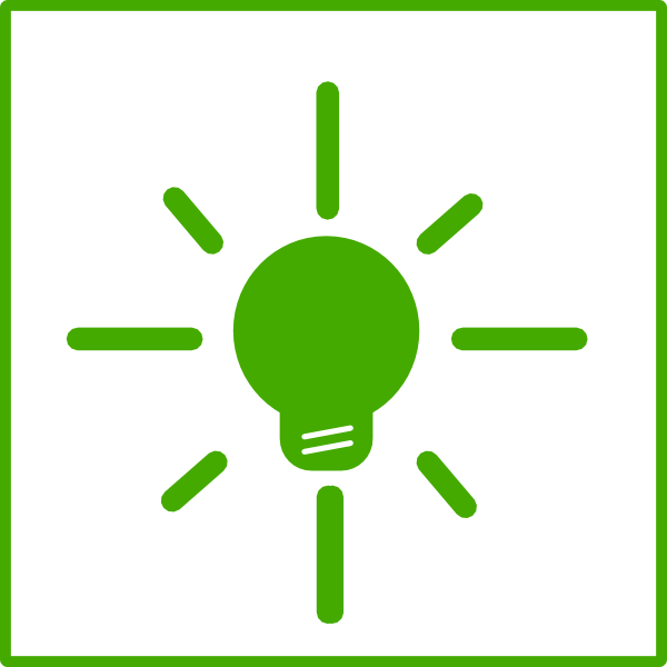 600x600 Green Light Bulb Energy Icon Clip Art