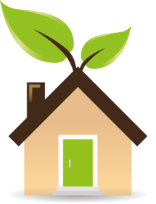 228x298 House With Green Energy Clip Art
