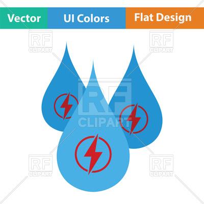 400x400 Hydro Energy Drops Icon Royalty Free Vector Clip Art Image