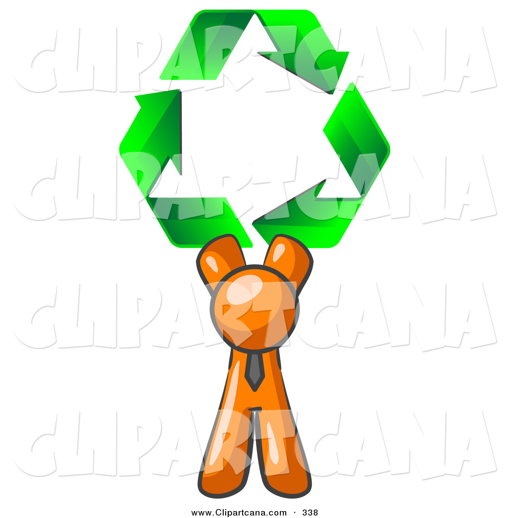 1024x1044 Vector Clip Art Of A Friendly Orange Man Holding Up Three Green