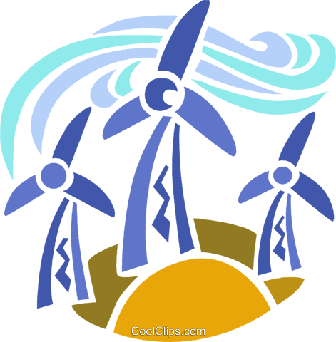 471x480 Wind Energy Royalty Free Vector Clip Art Illustration Vc094065