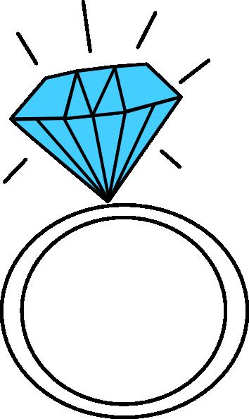 354x594 Diamond Ring Teal Clip Art