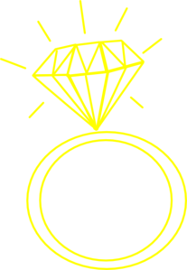 207x299 Diamond Ring Yellow Clip Art
