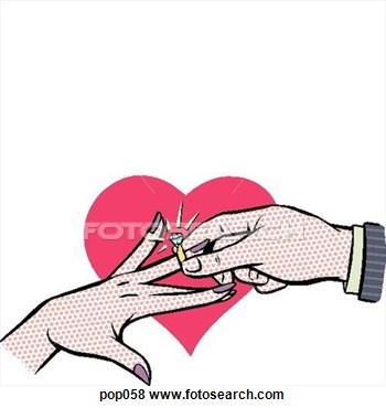 350x370 Wedding Engagement Clipart