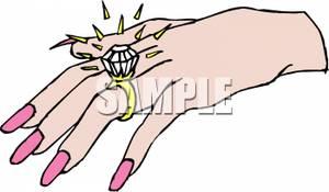 300x175 A Woman Wearing A Diamond Ring