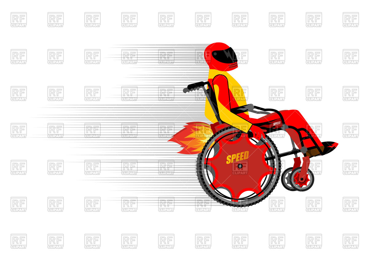 1200x835 Disabled Person In Wheelchair Wit Turbo Engine Royalty Free Vector