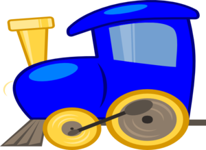 300x219 Engine Clipart Blue Train
