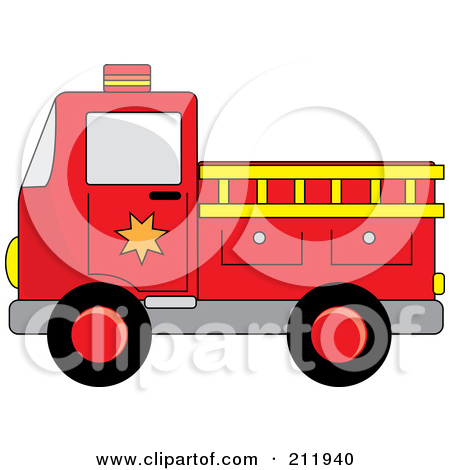 450x470 Christmas Fire Engine Clipart