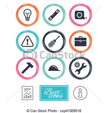 450x470 Repair, Construction Icons. Engineering Signs. Repair, Vector