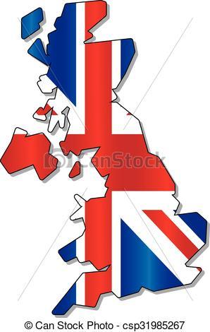 298x470 England Flag Map. England Flag Clip Art Vector