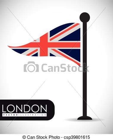 381x470 Flag London England Design. Flag London England Landmark Vector