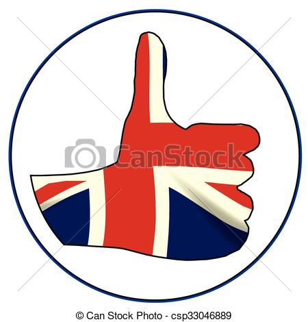 450x470 Thumbs Up England. A Union Jack Hand Giving The Thumbs Up